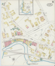 Barre, VT Fire Insurance 1894 Sheet 3 - Old Town Map Reprint