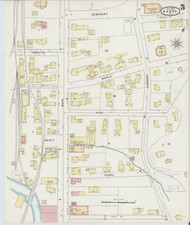 Barre, VT Fire Insurance 1894 Sheet 5 - Old Town Map Reprint
