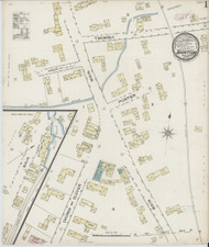 Barton, VT Fire Insurance 1886 Sheet 1 - Old Town Map Reprint