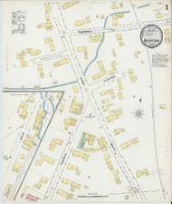 Barton, VT Fire Insurance 1892 Sheet 1 - Old Town Map Reprint