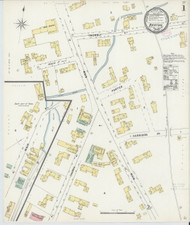 Barton, VT Fire Insurance 1897 Sheet 1 - Old Town Map Reprint