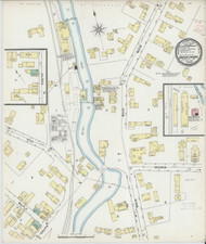 Barton Landing, VT Fire Insurance 1895 Sheet 1 - Old Town Map Reprint