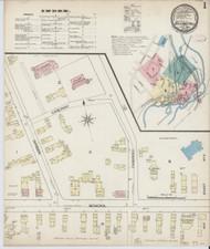 Bellows Falls, VT Fire Insurance 1885 Sheet 1 - Old Town Map Reprint