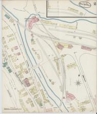 Bellows Falls, VT Fire Insurance 1885 Sheet 2 - Old Town Map Reprint