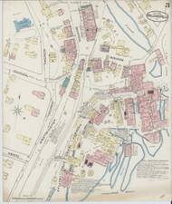 Bellows Falls, VT Fire Insurance 1885 Sheet 3 - Old Town Map Reprint
