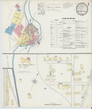 Bellows Falls, VT Fire Insurance 1891 Sheet 1 - Old Town Map Reprint