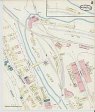 Bellows Falls, VT Fire Insurance 1891 Sheet 2 - Old Town Map Reprint