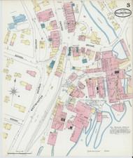 Bellows Falls, VT Fire Insurance 1891 Sheet 3 - Old Town Map Reprint