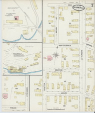 Bellows Falls, VT Fire Insurance 1891 Sheet 7 - Old Town Map Reprint