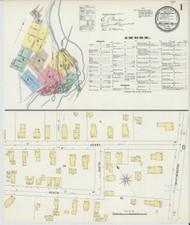 Bellows Falls, VT Fire Insurance 1896 Sheet 1 - Old Town Map Reprint