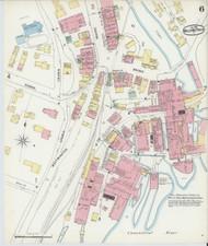 Bellows Falls, VT Fire Insurance 1896 Sheet 6 - Old Town Map Reprint