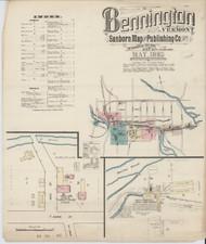 Bennington, VT Fire Insurance 1885 Sheet 1 - Old Town Map Reprint