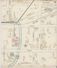 Bennington, VT Fire Insurance 1885 Sheet 2 - Old Town Map Reprint