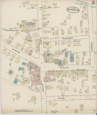 Bennington, VT Fire Insurance 1885 Sheet 3 - Old Town Map Reprint