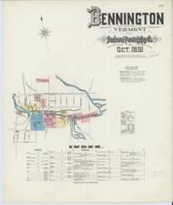 Bennington, VT Fire Insurance 1891 Sheet 1 - Old Town Map Reprint