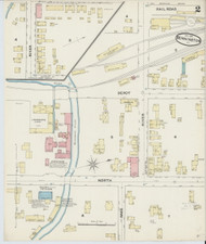 Bennington, VT Fire Insurance 1891 Sheet 2 - Old Town Map Reprint