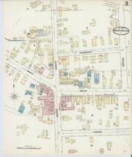 Bennington, VT Fire Insurance 1891 Sheet 3 - Old Town Map Reprint