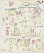 Bennington, VT Fire Insurance 1891 Sheet 4 - Old Town Map Reprint