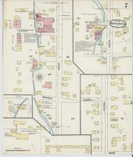 Bennington, VT Fire Insurance 1891 Sheet 7 - Old Town Map Reprint