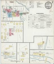 Bennington, VT Fire Insurance 1896 Sheet 1 - Old Town Map Reprint