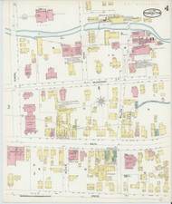 Bennington, VT Fire Insurance 1896 Sheet 4 - Old Town Map Reprint