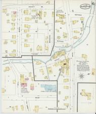 Bennington, VT Fire Insurance 1896 Sheet 6 - Old Town Map Reprint