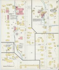 Bennington, VT Fire Insurance 1896 Sheet 7 - Old Town Map Reprint