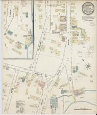 Bradford, VT Fire Insurance 1887 Sheet 1 - Old Town Map Reprint