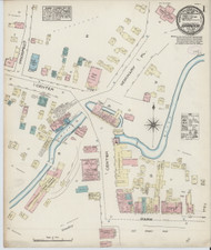 Brandon, VT Fire Insurance 1885 Sheet 1 - Old Town Map Reprint