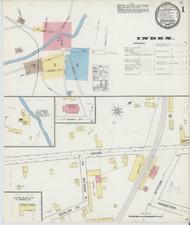 Brandon, VT Fire Insurance 1892 Sheet 1 - Old Town Map Reprint
