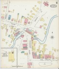 Brandon, VT Fire Insurance 1892 Sheet 2 - Old Town Map Reprint