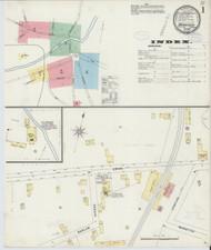 Brandon, VT Fire Insurance 1897 Sheet 1 - Old Town Map Reprint