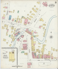 Brandon, VT Fire Insurance 1897 Sheet 3 - Old Town Map Reprint