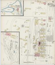 Brattleboro, VT Fire Insurance 1885 Sheet 1 - Old Town Map Reprint