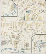Brattleboro, VT Fire Insurance 1885 Sheet 2 - Old Town Map Reprint