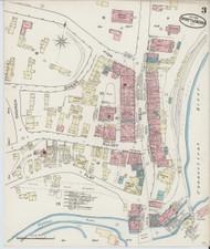 Brattleboro, VT Fire Insurance 1885 Sheet 4 - Old Town Map Reprint