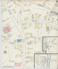 Brattleboro, VT Fire Insurance 1885 Sheet 5 - Old Town Map Reprint