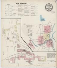 Brattleboro, VT Fire Insurance 1885 Sheet 6 - Old Town Map Reprint