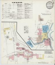 Brattleboro, VT Fire Insurance 1891 Sheet 1 - Old Town Map Reprint