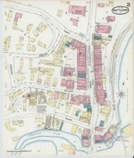 Brattleboro, VT Fire Insurance 1891 Sheet 3 - Old Town Map Reprint