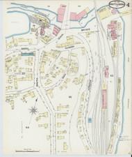 Brattleboro, VT Fire Insurance 1891 Sheet 4 - Old Town Map Reprint