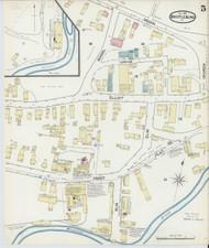 Brattleboro, VT Fire Insurance 1891 Sheet 5 - Old Town Map Reprint