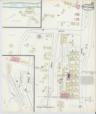 Brattleboro, VT Fire Insurance 1891 Sheet 6 - Old Town Map Reprint