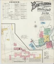 Brattleboro, VT Fire Insurance 1896 Sheet 1 - Old Town Map Reprint