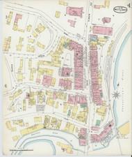 Brattleboro, VT Fire Insurance 1896 Sheet 4 - Old Town Map Reprint
