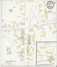 Bristol, VT Fire Insurance 1895 Sheet 1 - Old Town Map Reprint