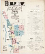 Burlington, VT Fire Insurance 1885 Sheet 1 - Old Town Map Reprint