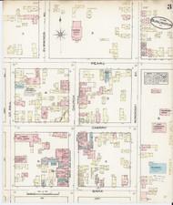 Burlington, VT Fire Insurance 1885 Sheet 3 - Old Town Map Reprint