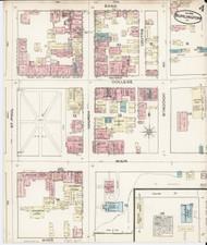 Burlington, VT Fire Insurance 1885 Sheet 4 - Old Town Map Reprint