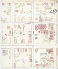 Burlington, VT Fire Insurance 1885 Sheet 5 - Old Town Map Reprint